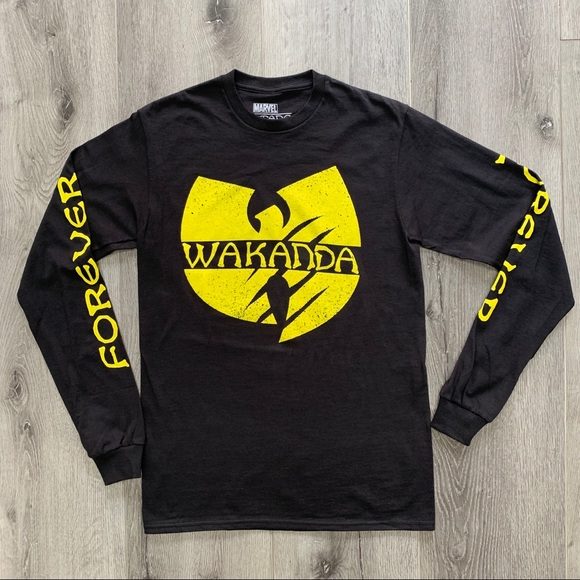 2ba0579cfc5a Marvel Shirts   Wu Tang Clan Black Panther Long Sleeve Tshirt   Poshmark